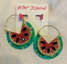 Betsey Johnson Watermelon Hoop Earrings 301108gld6