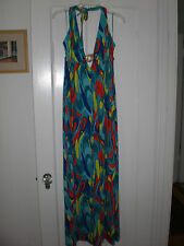 NWT Stunning Trina Turk dress Maxi Sundress abstract design SCOOP BACK large