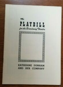 KATHERINE DUNHAM AND HER COMPANY 1950 Playbill