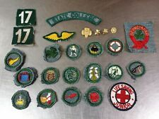 Lot of 25 Vintage c.1938-47 Girl Scout Badges Patches & Pins, State College PA