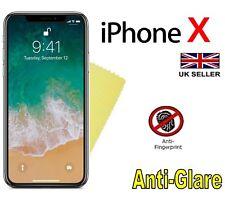 """10 x Apple iPhone X 5.8"""" Antiriflesso Opaca Protezioni Dello Schermo Cover Pellicola e Panno"""