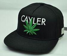Cayler & Sons Premium Adults Adjustable Snap Back Flat Bill Black Hat Cap