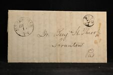 Pennsylvania: Homesdale 1852 Stampless Cover Black CDS, Circled PAID 3, Wayne Co