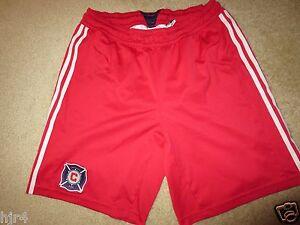 chicago fire MLS Soccer Adidas Football shorts sm S mens
