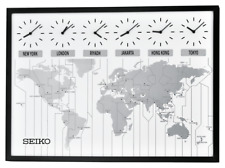 *BRAND NEW* Seiko World's View Wall Clock QXA538KLH