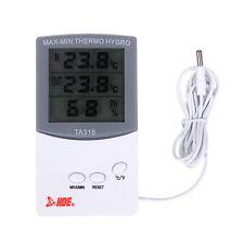 Indoor Outdoor Thermometer with Humidity Sensor Digital Hygrometer