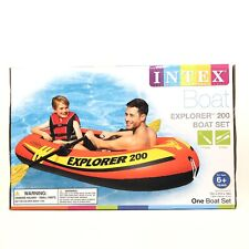Intex Explorer 200 Inflatable 2 Person River Boat Raft Set with 2 Oars & Pump