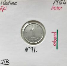 1 CENTIME EPI - 1964 (Avec Rebord) Pièce de monnaie en Acier // TTB