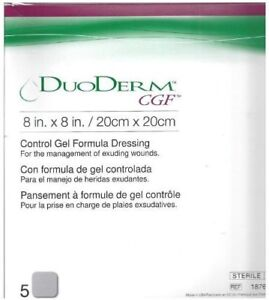 """Duoderm CGF Sterile Wound Dressing 8"""" x 8"""" - Box of 5 Dressings"""