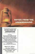 NOTES FROM THE UNDERGROUND -  ONE ACT PLAYS ADVERTISING COLOUR POSTCARD
