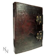 Book of Shadows Leather Pentagram 25cm 100 Pages Journal Diary Nemesis Now Gift