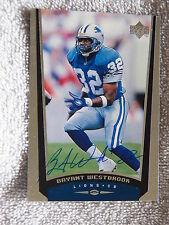 Detroit Lions Bryant Westbrook Signed 1998 Upper Deck Card Auto