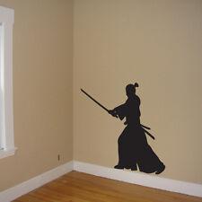 Samurai Wall Mural, Samurai Decal Wall Art, Samurai Vinyl Sticker, samurai