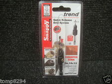 "TREND SNAPPY TCT DRILL COUNTERSINK WITH 1/4"" HEX SHANK SNAP/CS/12TC 10 & 12"