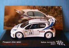 PEUGEOT 206 WRC #28 ACROPOLIS RALLY 2001 GILLES PANIZZI IXO 1/43 IXO ALTAYA