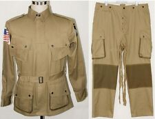 WWII US Army M1942 M42 Airborne Paratrooper Uniform Jumpsuit Jacket Trousers S