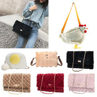 Women Shoulder Bag Tote Purse Fleece/Plush Handbag Messenger Crossbody Satchel