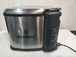 Masterbuilt MB20012420 Electric Fryer Boiler Steamer Removable Lid XL Silver
