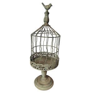 Shabby Chic Vintage Themed Metal Birdcage Style Plant Holder AllChic