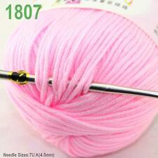 Sale New 1 ball x50gr Cashmere Silk Velvet Baby Children Hand Knitting Yarn 07