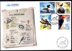ARGENTINA 2013, FAUNA BIRDS YV 2992-5 FDC