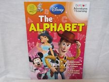 Disney & Pixar Film Characters The Alphabet 32 Page Workbook Learn The Alphabet