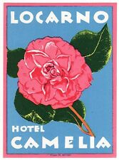 Hotel Camelia LOCARNO Swiss luggage label Kofferaufkleber - BRÜGGER    x0622