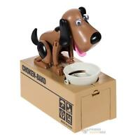 Cute Stealing Coin Money Box Dog Piggy Puppy Bank Storage Money Saving Box Gift