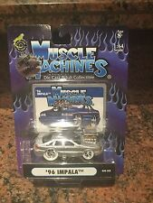 1/64 1996 Impala Chase Car Muscle Machines Blown/supercharged In Silver