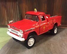 1958 Chevy Apache Fire Brush Lifted 4x4 Custom 1:64 Diecast Truck M2 Machines