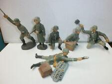 Konvolut 6 alte Hausser Elastolin Massesoldaten 7.5cm Kampfgruppe