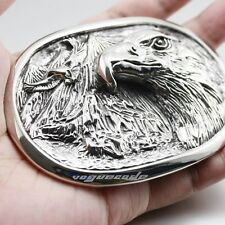 Huge 316L Stainless Steel Eagle Mens Biker Belt Buckle P024D