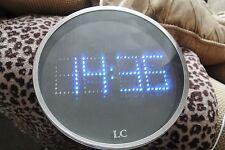 Vintage LC BLUE LED Digital Wall Clock