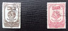 Unione Sovietica Mer 868-870 a, SC 984-986, medaglie, timbrato, incompleta