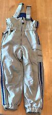 Obermeyer Snow Ski Bib Pants Preschool Size 5 Khaki & Blue I-Grow