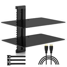 Estante de vidrio DVD Blu Ray Player Consola juegos tv Receptor soporte cristal
