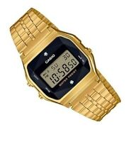 Casio A159WGED-1 W Natural Diamonds Digital Steel Watch Made in Japan A159 +Case