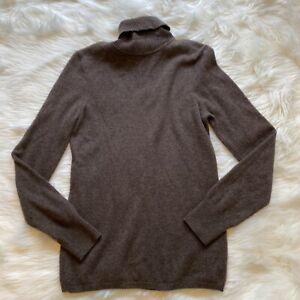 Jcrew cashmere sweater brown women's size medium