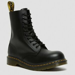 Dr Martens 1919 Mid Calf Leather Steel Toe Boot BLACK 10105001 Woman Size 7