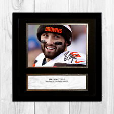 "Baker Mayfield 3 NFL Cleveland Browns framed/unframed signed poster (10""x10"")"