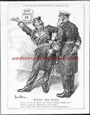 KAISER & TIRPITZ Launch the Starvation of England! Original 1915 PUNCH Cartoon