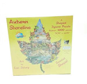 Sunsout 95298 Autumn Shoreline 1000 pc Shaped Jigsaw Puzzle Lori Schory New