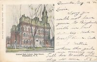 BINGHAMTON NY – Central High School (Main Street) - udb – 1906