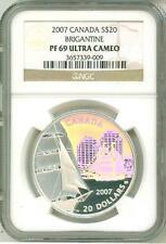 2007 Canada S$20 Brigantine Hologram NGC PF69 Ultra Cameo w/ Mint Box & COA OGP