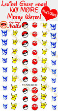 Pokemon Go Clear Vinyl PEEL and STICK Nail Decals
