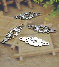 15-45pcs 36x12mm Antique Silver Filigree Flower Rhombus Connector Link