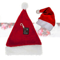 Father Christmas Santa Hat Shiny Colour Changing Reversible Sequins Deluxe Xmas