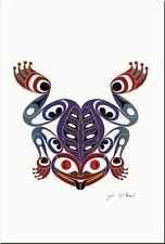 JOE WILSON Coast Salish ART CARD Design THE FROG