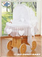 MY SWEET BABY-Cuori di vimini culla in vimini-bianco