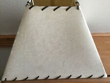 Beige Coloured Square Parchment Light Shade With Leather Lacing.